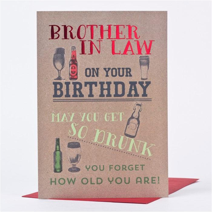 birthday card brother in law forget your age only 89p