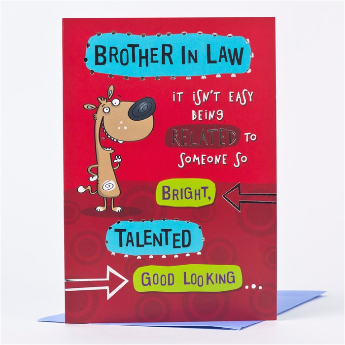birthday card brother in law only 89p