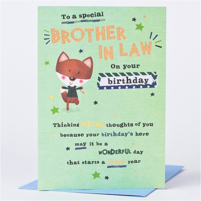 birthday card to a special brother in law only 59p