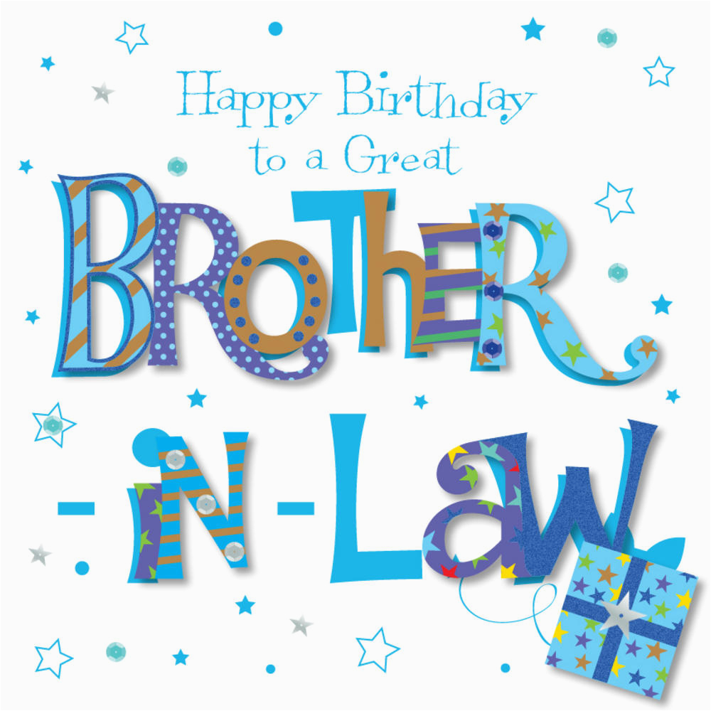 Great Brother In Law Happy Birthday Greeting Card Cards
