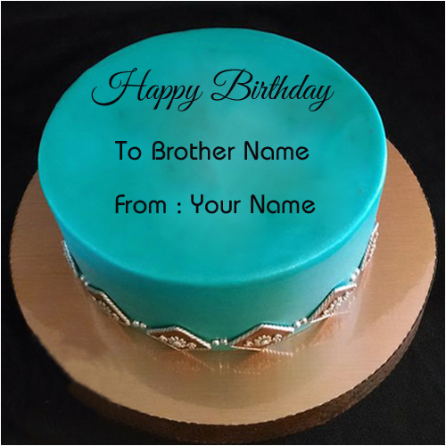 Birthday Cards For Brother With Name Wishes Special Cake Your