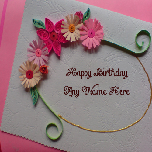 unique handmade birthday wish card for brother name write free