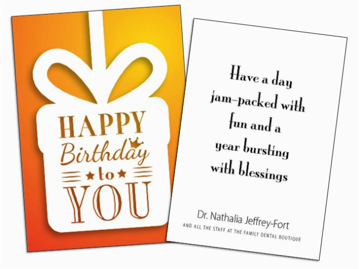 Birthday Cards For Customers Card Insert Sample Wilson Printing Usa