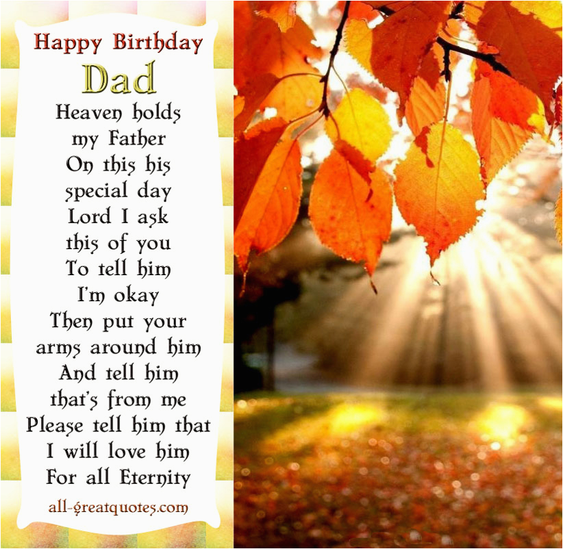 Birthday Cards for Dad In Heaven Dad In Heaven Quotes Quotesgram