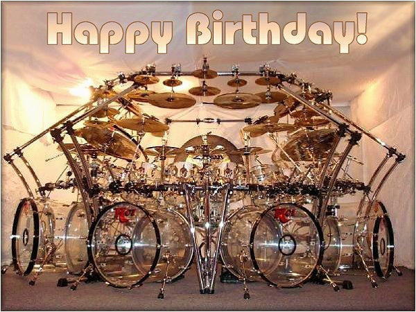 happy birthday wishes with drum