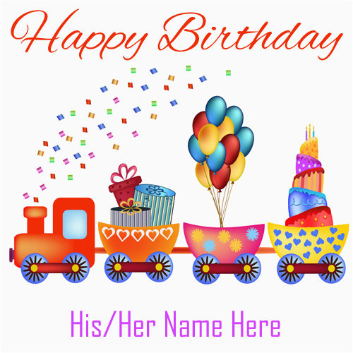 happy birthday cards with name for facebook
