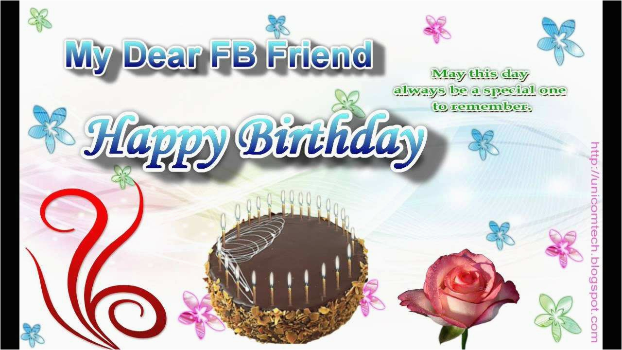 birthday greeting e card to a fb friend birthday cards to put on facebook