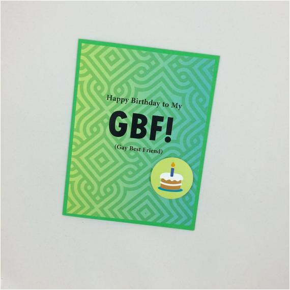 Birthday Cards for Gay Friends Gay Best Friend Birthday Card