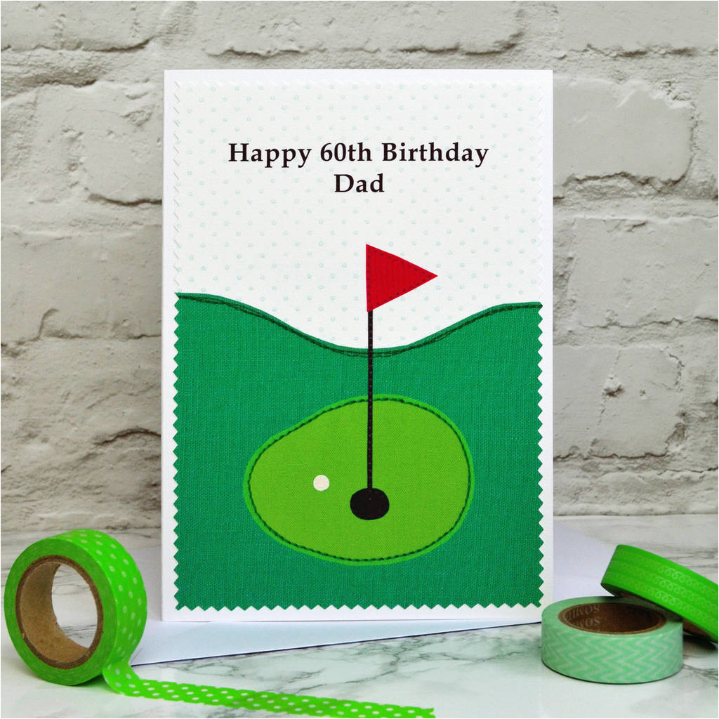 Golf Personalised Birthday Card