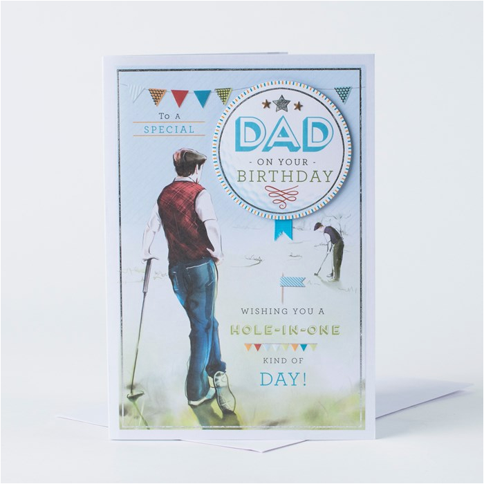 Birthday Cards For Golfers Card Golf Dad Only 99p