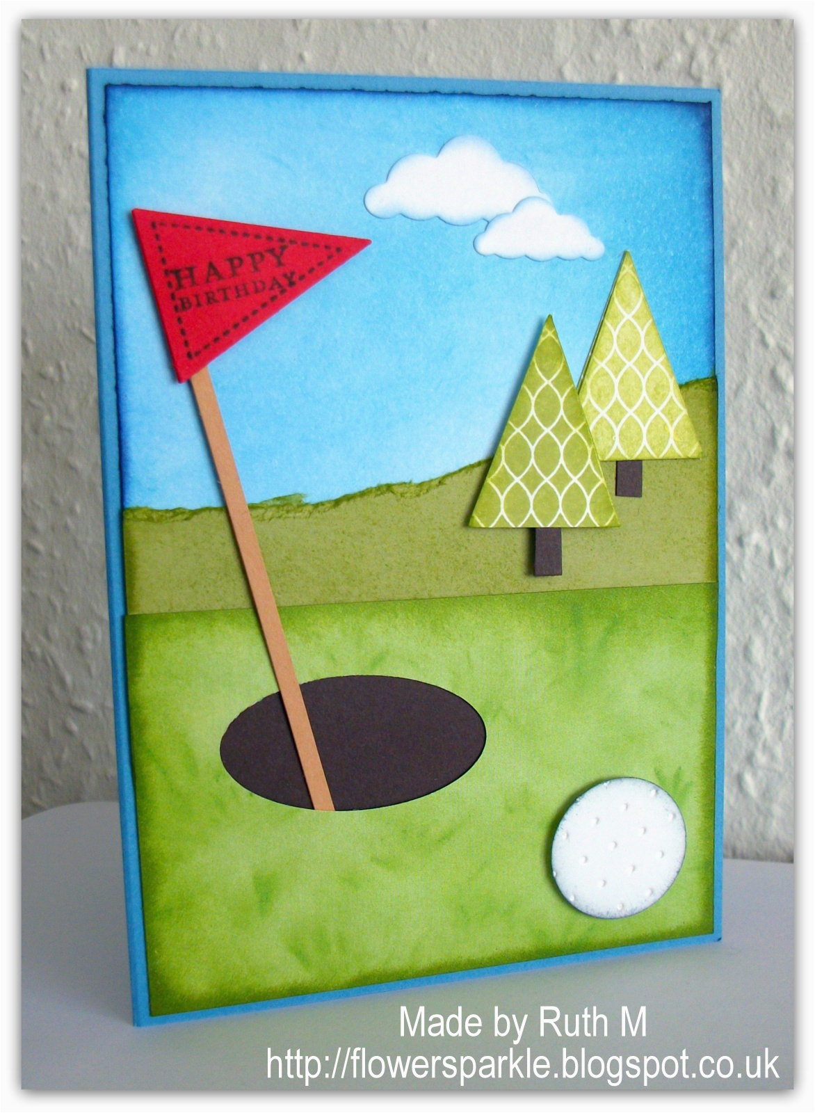 Birthday Cards For Golfers Flower Sparkle Golf Card Brett