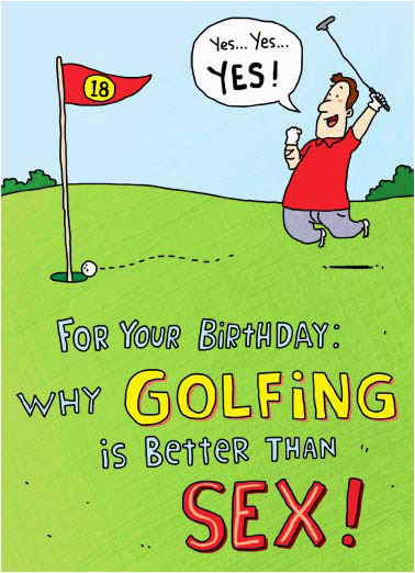 Birthday Cards For Golfers Funny Him Cardfool Free Postage