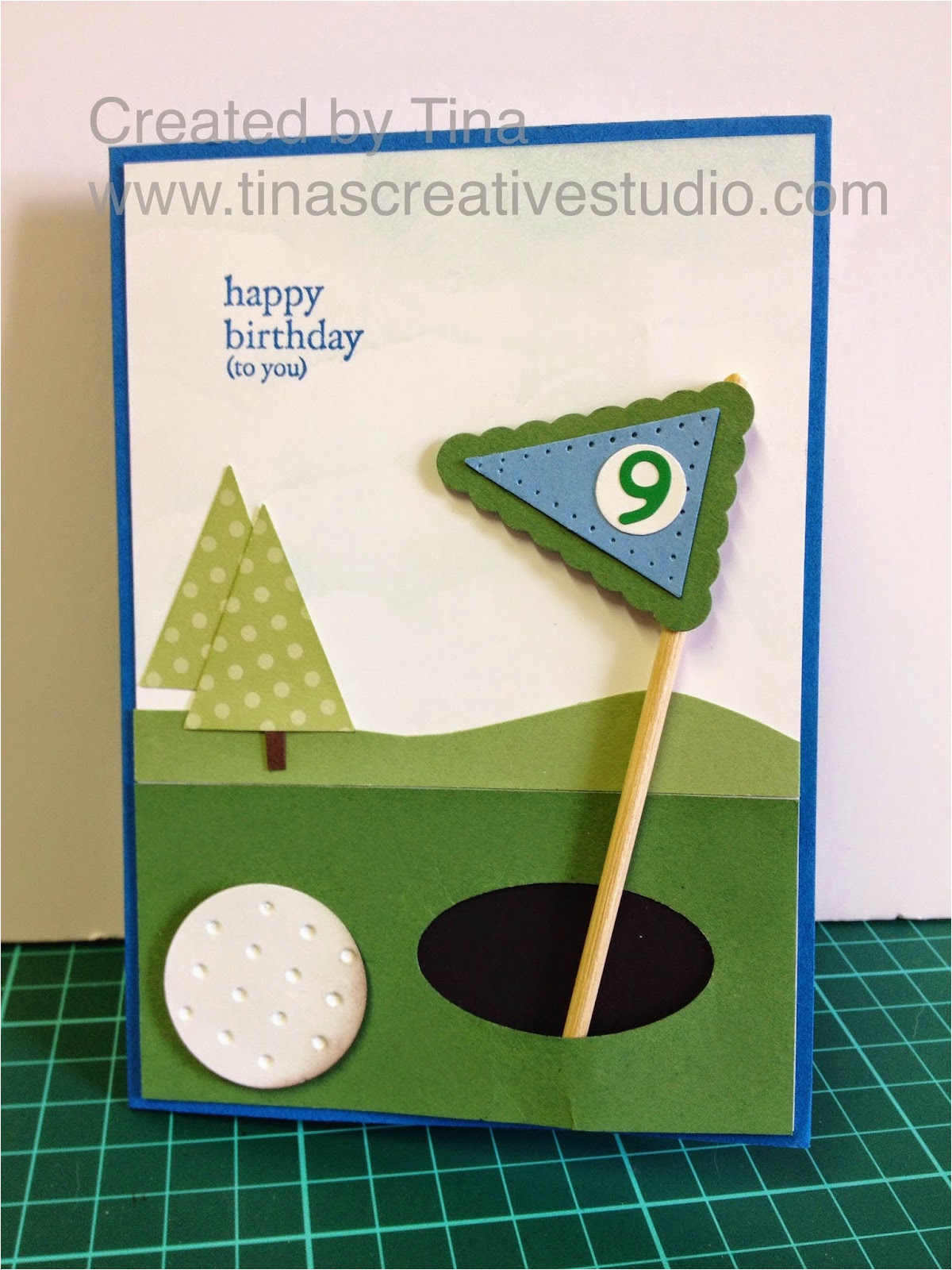 Birthday Cards For Golfers Tina 39 S Creative Studio Golf Themed Card