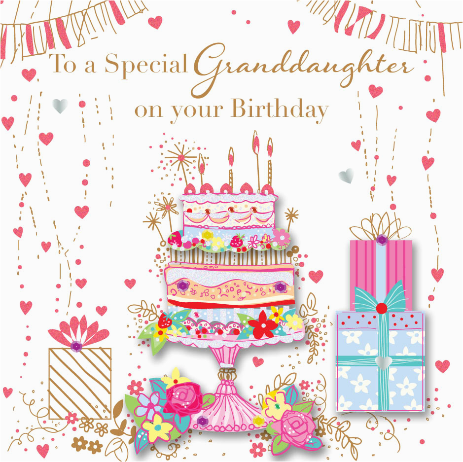 granddaughter birthday handmade embellished greeting card