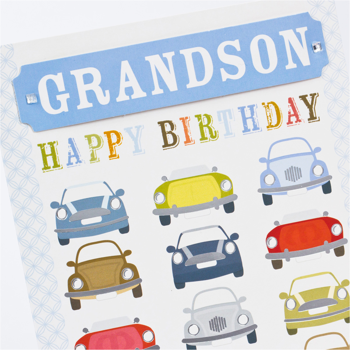 birthday card car print grandson only 99p