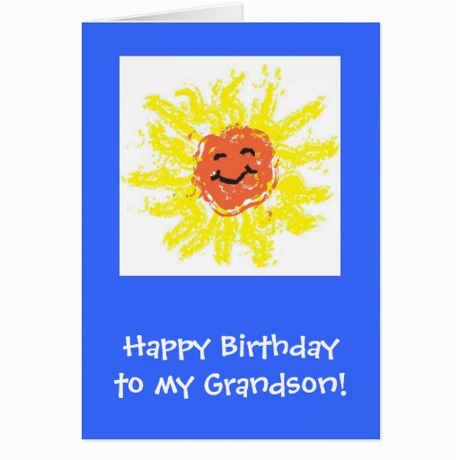 Birthday Cards for Grandson to Print Card Happy Birthday Grandson Greeting Card Zazzle