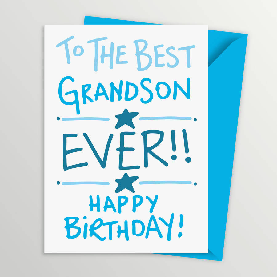 grandson birthday card by a is for alphabet