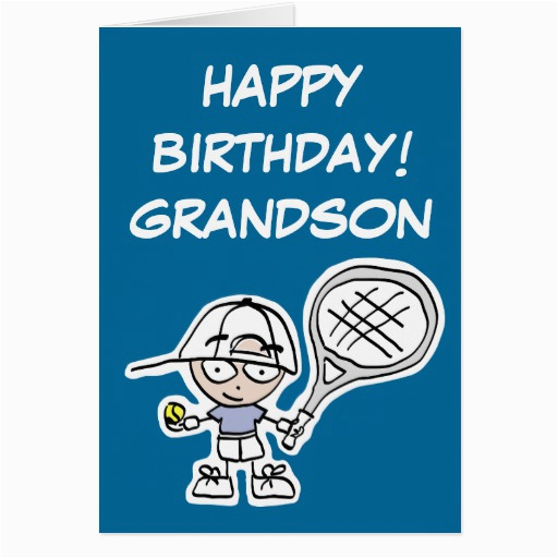 grandson birthday card with little tennis boy zazzle
