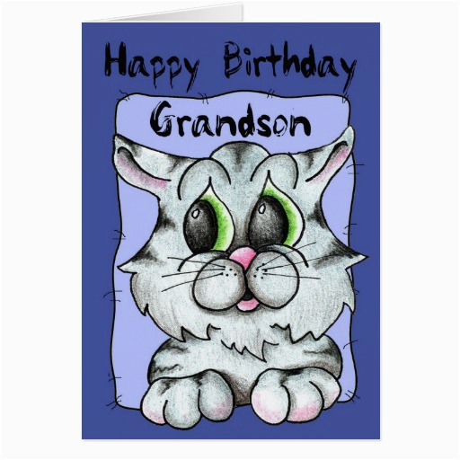 Birthday Cards for Grandson to Print Happy Birthday Grandson Greeting Card Zazzle