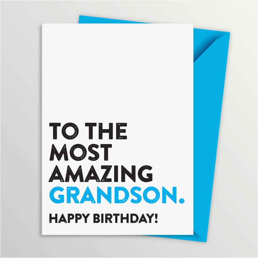 most amazing grandson birthday card by a is for alphabet