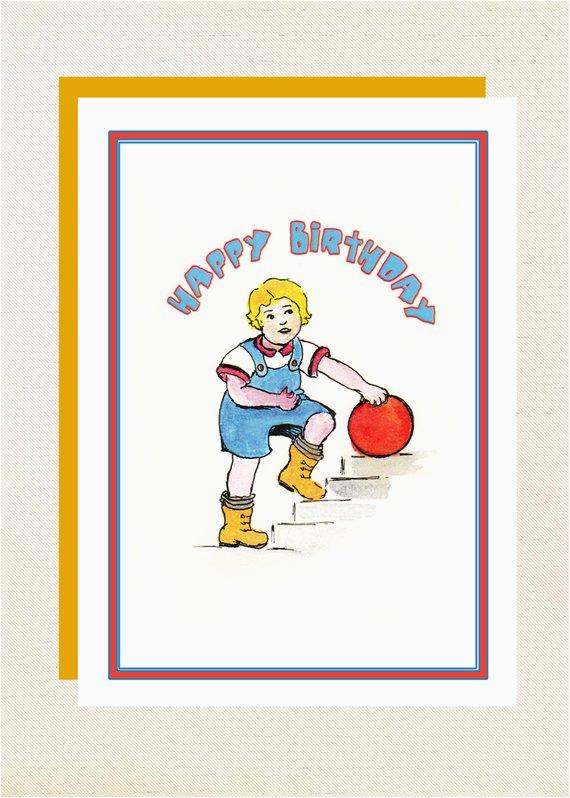 birthday card little boy blue