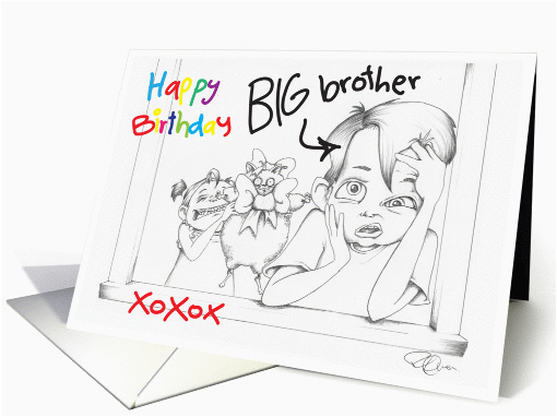 Birthday Cards For Little Brother Happy Big From Sister Card 789553
