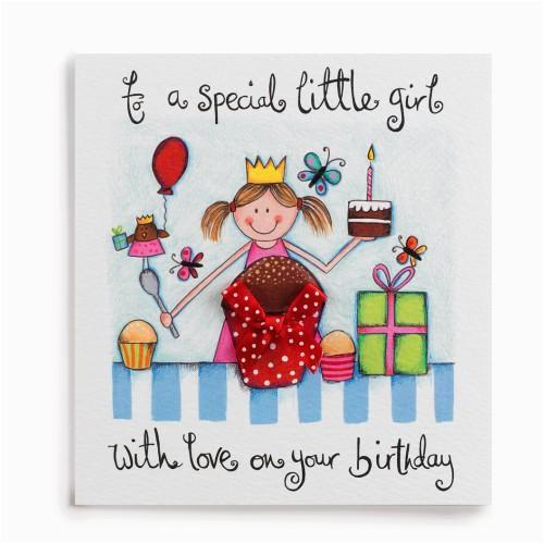special little girl handmade birthday card ir