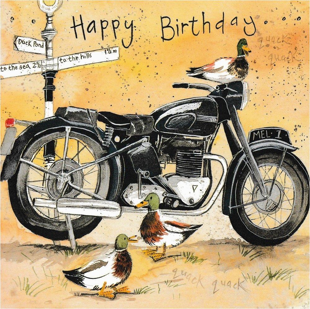 Birthday Cards For Motorcycle Riders Happy Motorbike Farm Card Ebay