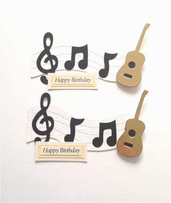 2 large music lover guitar note 39 happy birthday 39 die