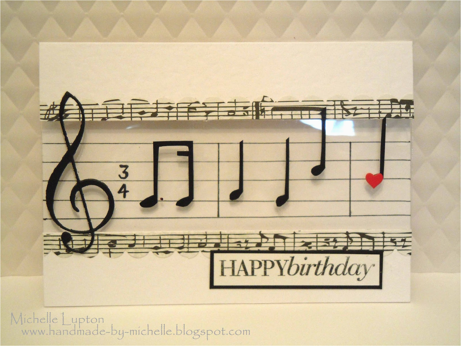 handmade by michelle musical happy birthday