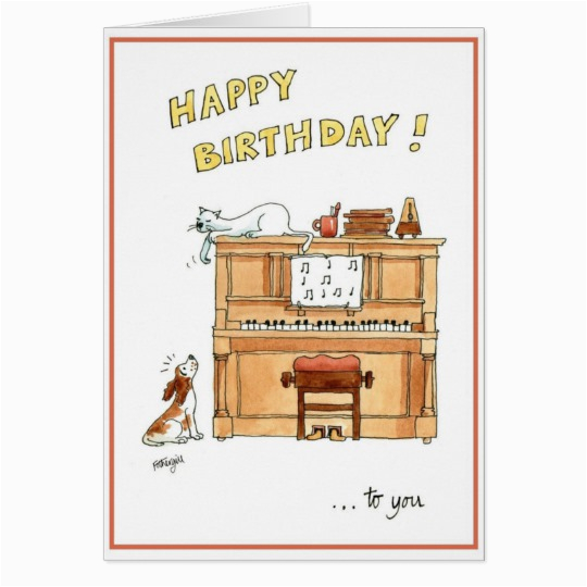 happy birthday card for music lovers zazzle ca