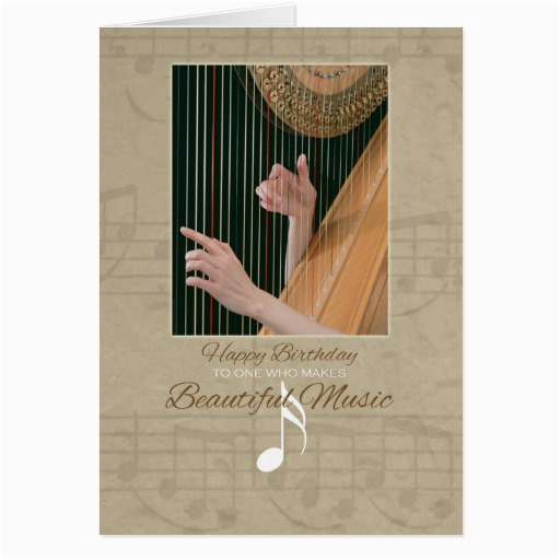 happy birthday for music lover greeting card zazzle