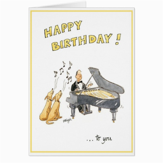 happy birthday greeting card for music lovers zazzle com
