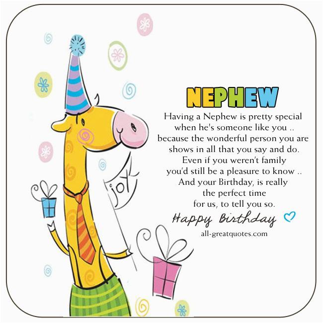 free birthday cards for nephew having a nephew is pretty special