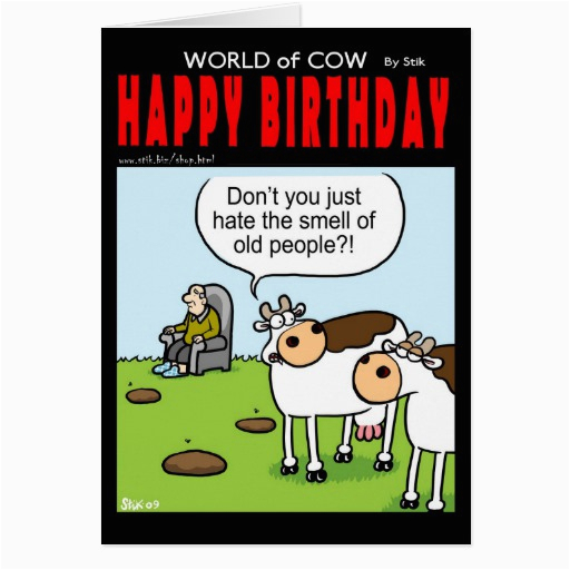 world of cow birthday card old people 137350739476517651