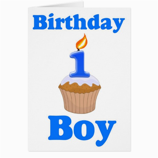 Birthday Cards For One Year Old Baby Boy 1 Card Zazzle