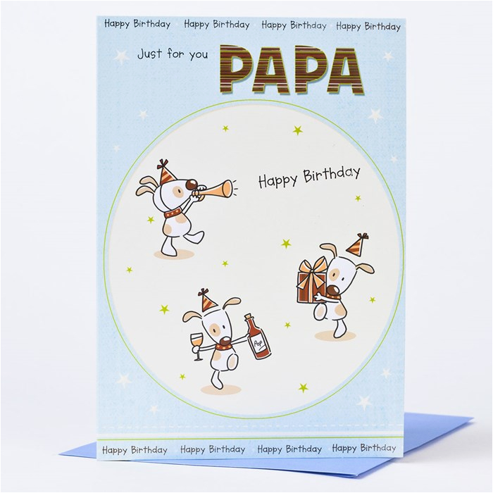 Birthday Cards For Papa Card Just You Only 59p