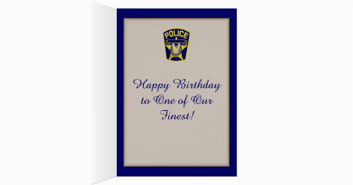 white police officer birthday card 137332278574409263