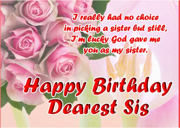Birthday Cards For Sister Free Download 10 Happy Pics Cute Sis