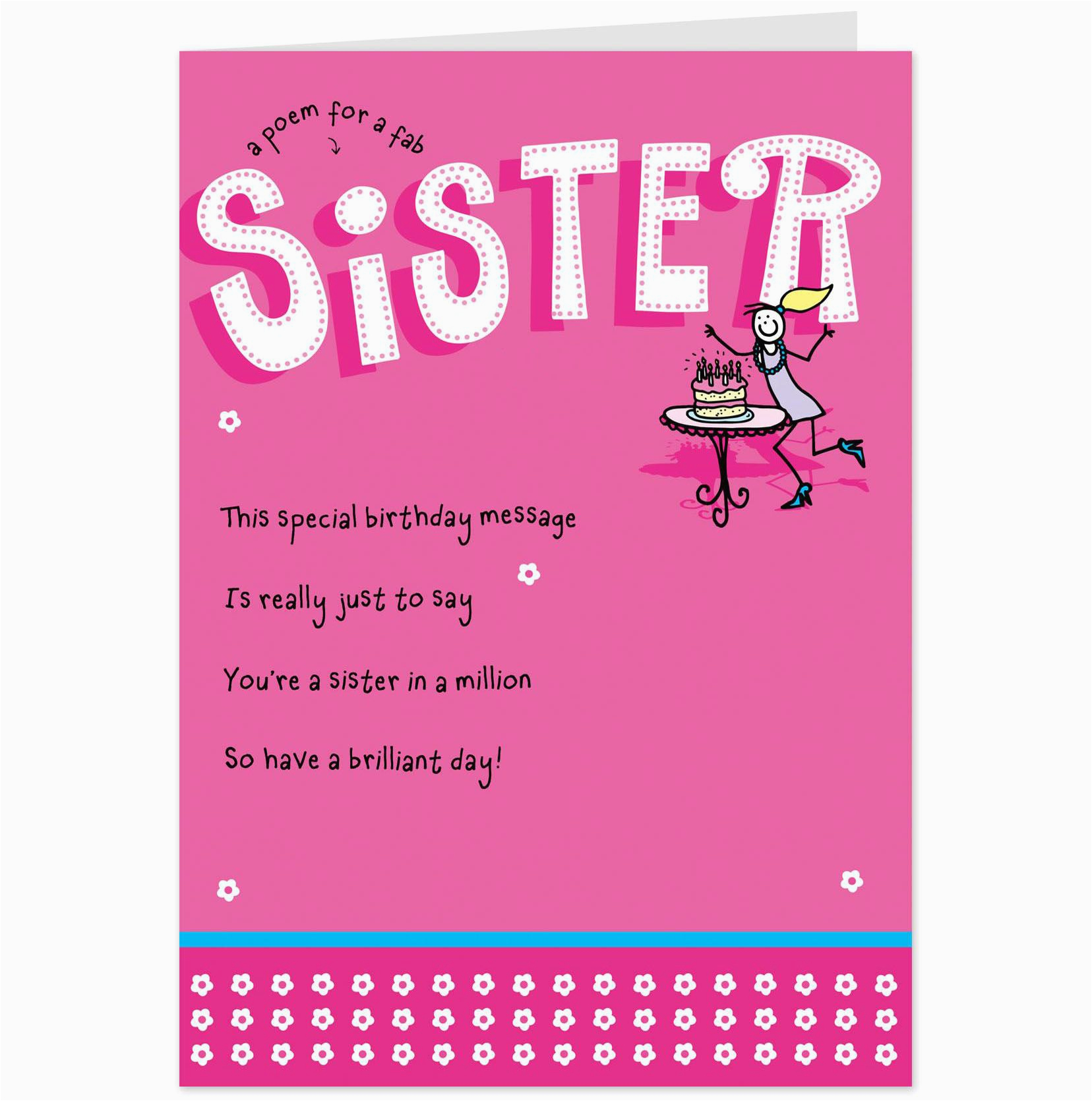 Birthday Cards For Sister Free Card Design Template