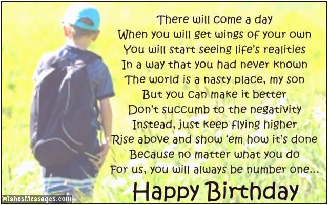 birthday poems for son wishesmessages com