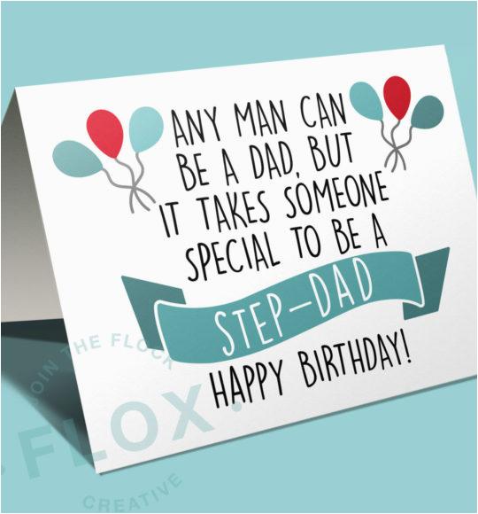 Happy Birthday Card For Step Dad