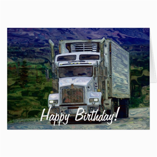big rig road liner truck lover birthday card zazzle com