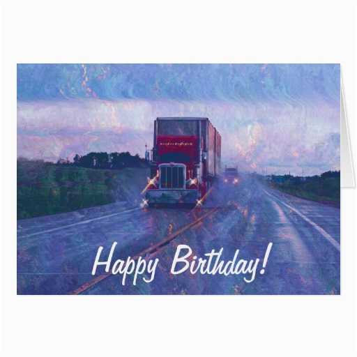 big rig road liner truck lover birthday card zazzle