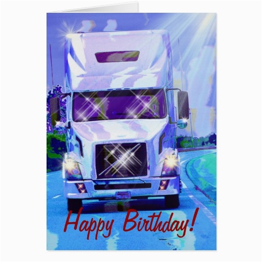 cool truck funny trucker birthday cards zazzle