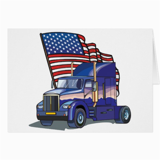 usa truck driver greeting card zazzle