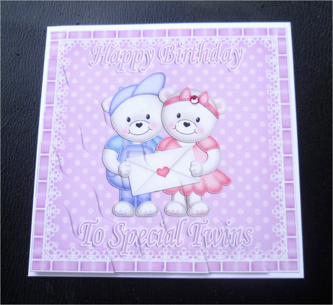 Birthday Cards For Twin Boys To Special Twins Teddies Card Girls Or