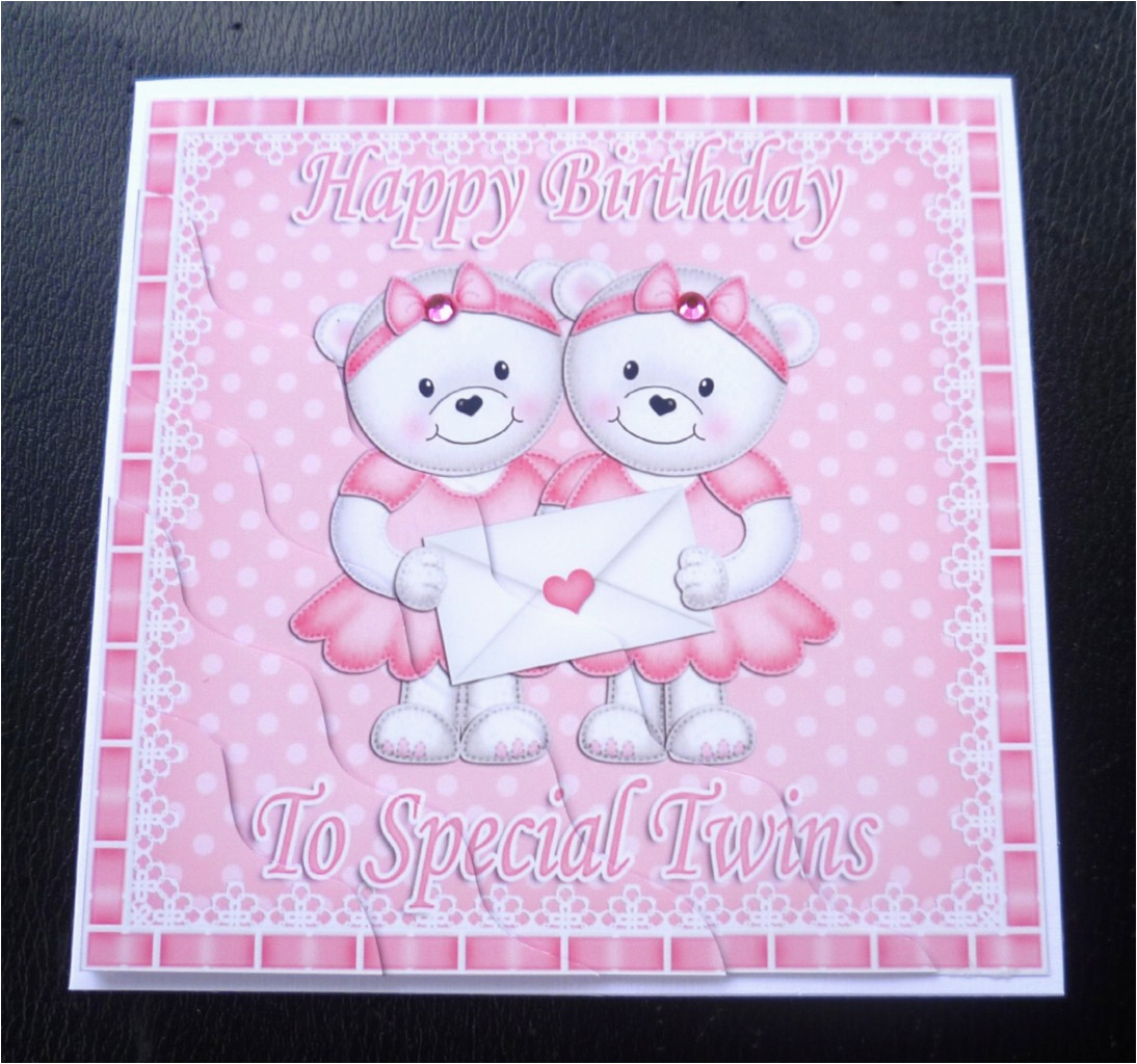 Birthday Cards For Twins Boy And Girl To Special Teddies Card Boys Girls Or