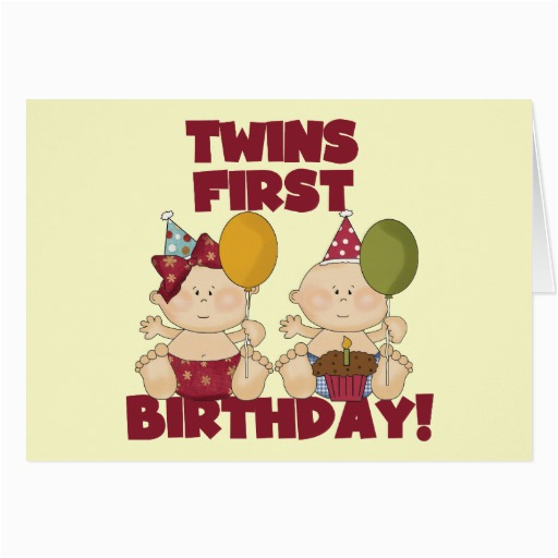 Birthday Cards For Twins Boy And Girl 1st T Shirts Gifts