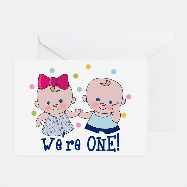 Birthday Cards For Twins Boy And Girl First Greeting Card Ideas Sayings